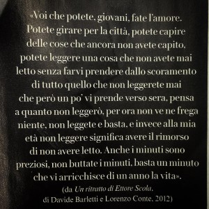 Voi che potete. @vanityfairitalia #letture #treno #ettorescola #tempoprezioso #vanityfair