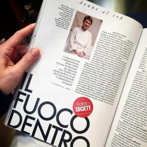 Mentre cambio look da @massimoserini  all'interno del @mo_milan leggo su Elle di una chef che amo, Marta Pulini. @dariavitali @bibendumcatering #elle #newlook #massimoserini