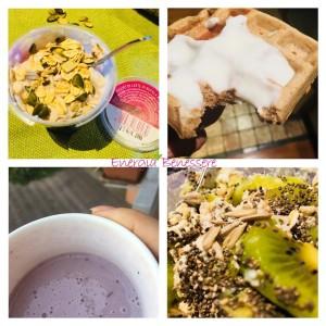 La mia colazione di quasi tutti i giorni è un frullato proteico, così sono sicura di iniziare la giornata al top!  La mattina, dopo l'allenamento serale che finisce con il frullato proteico, inserisco altri componenti! Qui ne vedete alcuni, e voi che colazione fate al mattino?  . . #colazione #breakfast #idee #frullato #shake #nutrizione #pasto #healthyfood #healthylifestyle #top #good #buono #consulenza
